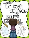 Mot du jour (Word of the day)