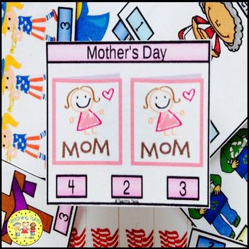 Mother's Day Clip Task Cards
