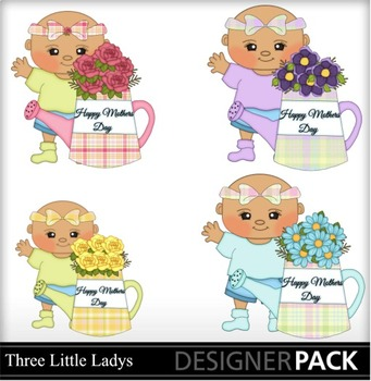 Mother Day Baby Girls 2 clipart