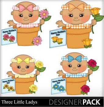 Mother Day Baby Girls  clipart