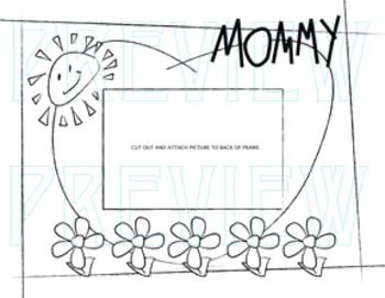 Mother Day's Picture Frame Preschool style