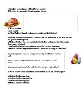Mother Fletcher Character Dialogue Worksheet Reading Street Grade 6 Skill Lesson