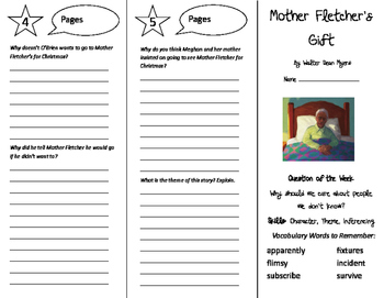 Mother Fletcher's Gift Trifold - Reading Street 6th Grade Unit 1 Week 2