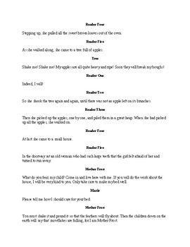 Mother Frost - Readers Theater Fairy Tale