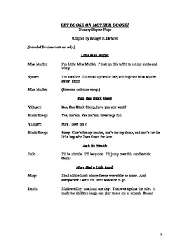 Mother Goose Readers Theatre Script