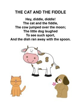 """The Cat and the Fiddle"" Mother Goose Rhyme Popsicle Stick Puppets"
