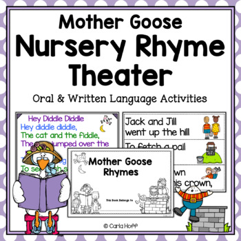 Mother Goose Rhyme Theatre!  Oral and Written Language Activities