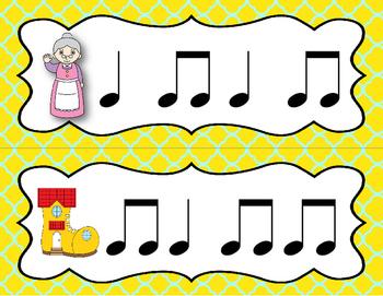 "Mother Goose ""Write the Room"" Scavenger Hunt - Ta, ti-ti (Quarter/8th notes)"