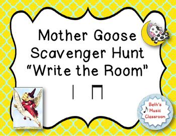 "Mother Goose ""Write the Room"" Scavenger Hunt - Ta, ti-ti ("