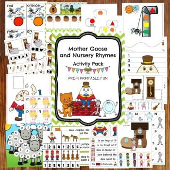 Mother Goose And Nursery Rhyme Activities For Preschool Pre K Tots