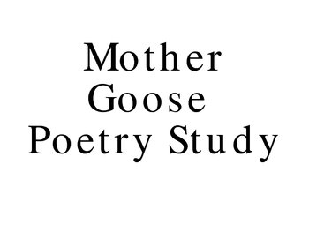 Mother Goose study