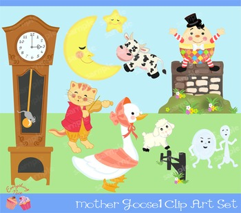 Mother Goose 1 Clipart Set