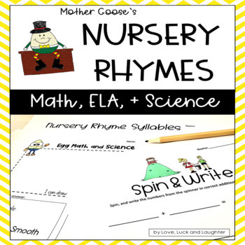 Mother goose teaching resources teachers pay teachers mother gooses nursery rhymes math literacy and science centers fandeluxe Gallery