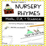 Nursery Rhyme Centers Math, Literacy and Science