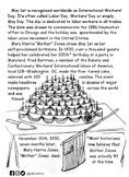 Mother Jones Informational/Coloring Sheet-- Mother's 100th Birthday