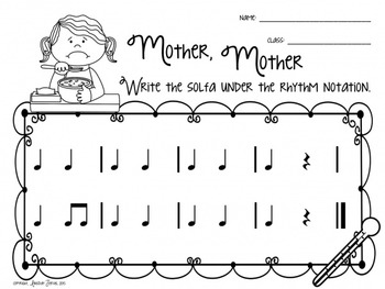 Mother, Mother: A folk song for teaching ta rest and do