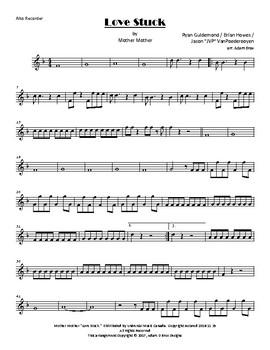 Mother Mother - Love Stuck (flexible recorder ensemble arrangement