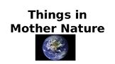 Mother Nature Earth Vocabulary