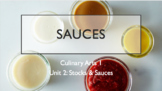 Mother Sauces Unit