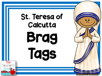 Mother Teresa Brag Tags FREEBIE
