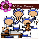 Mother Teresa Digital Clipart (color and black&white)