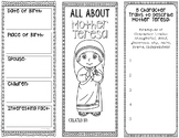 Mother Teresa - Historical Figure Research Project Interactive Notebook
