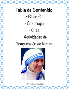 Mother Teresa «Madre Teresa» (Santa Teresa)