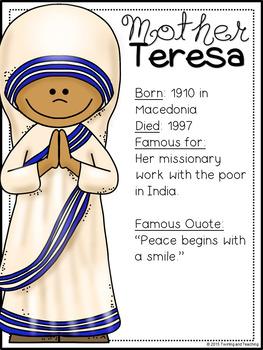 Mother Teresa Biography Pack (Women's History)