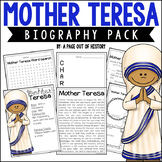 Mother Teresa Biography Pack | Distance Learning