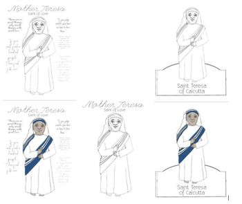 Mother Teresa Saint Teresa of Calcutta Activities and Papercrafts