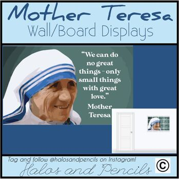 Mother Teresa Saint Teresa of Calcutta Wall Displays Valentine's Day