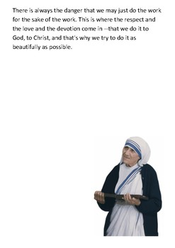 Mother Teresa Timeline and Quotes