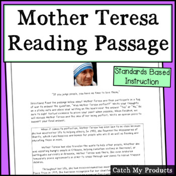 Mother Teresa: Was She Perfect? Reading, Discussing, Debating in a Tug of War