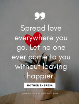Mother Theresa Quote Poster