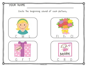 Mother's Day Worksheets Activities Games Printables and More