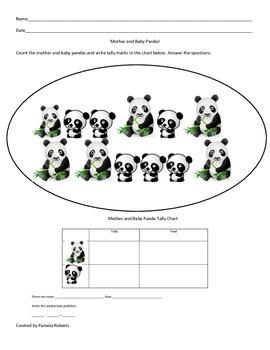 Mother and Baby Panda Tally Mark Chart