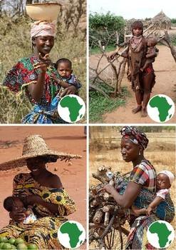 Mother and Child around the World Montesori Cards