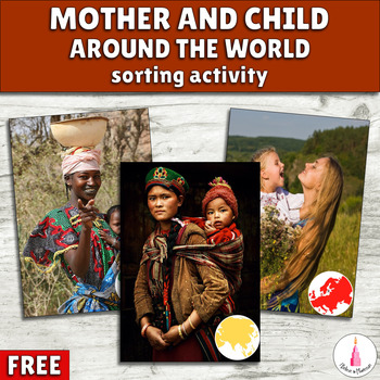 Mother and Child around the World Cards