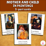 Mothers Day Mother and Child in Art Montessori 3-part Cards