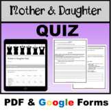 Mother and Daughter Quiz