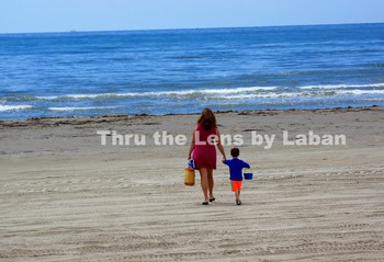 Mother and Son at the Beach Stock Photo #173