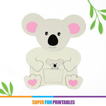 Mother and baby koala card