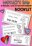 Mother's Day - 10 Reasons Why I Love My Mum Booklet {Mom,Grandma}