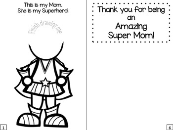 Mother's Day Activities Booklet: Superhero Theme