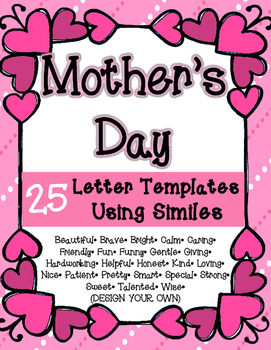 Mother's Day Simile Letters: 25 Templates