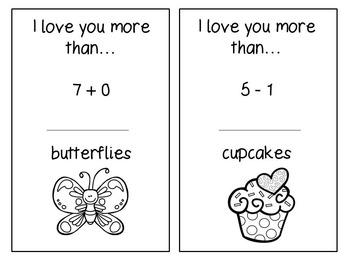 Mother's Day Math Mini-Book (Addition and Subtraction)