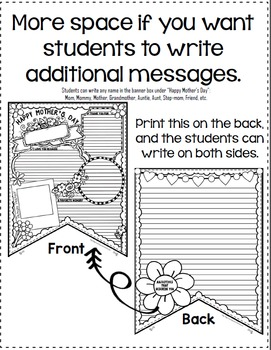 Mother's Day Writing: Activity Banner