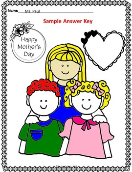 Mother's Day~Read and Follow Directions, Just Print, No Prep~1st and 2nd Grades