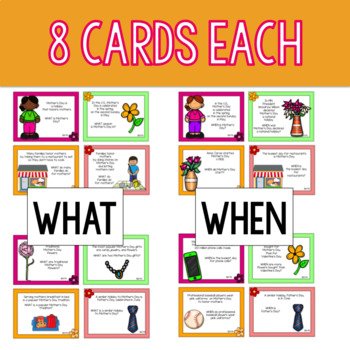 Mother's Day - A WH- Questions Game