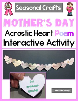 Mother's Day Craft - Acrostic Heart Poem - Seasonal Craft